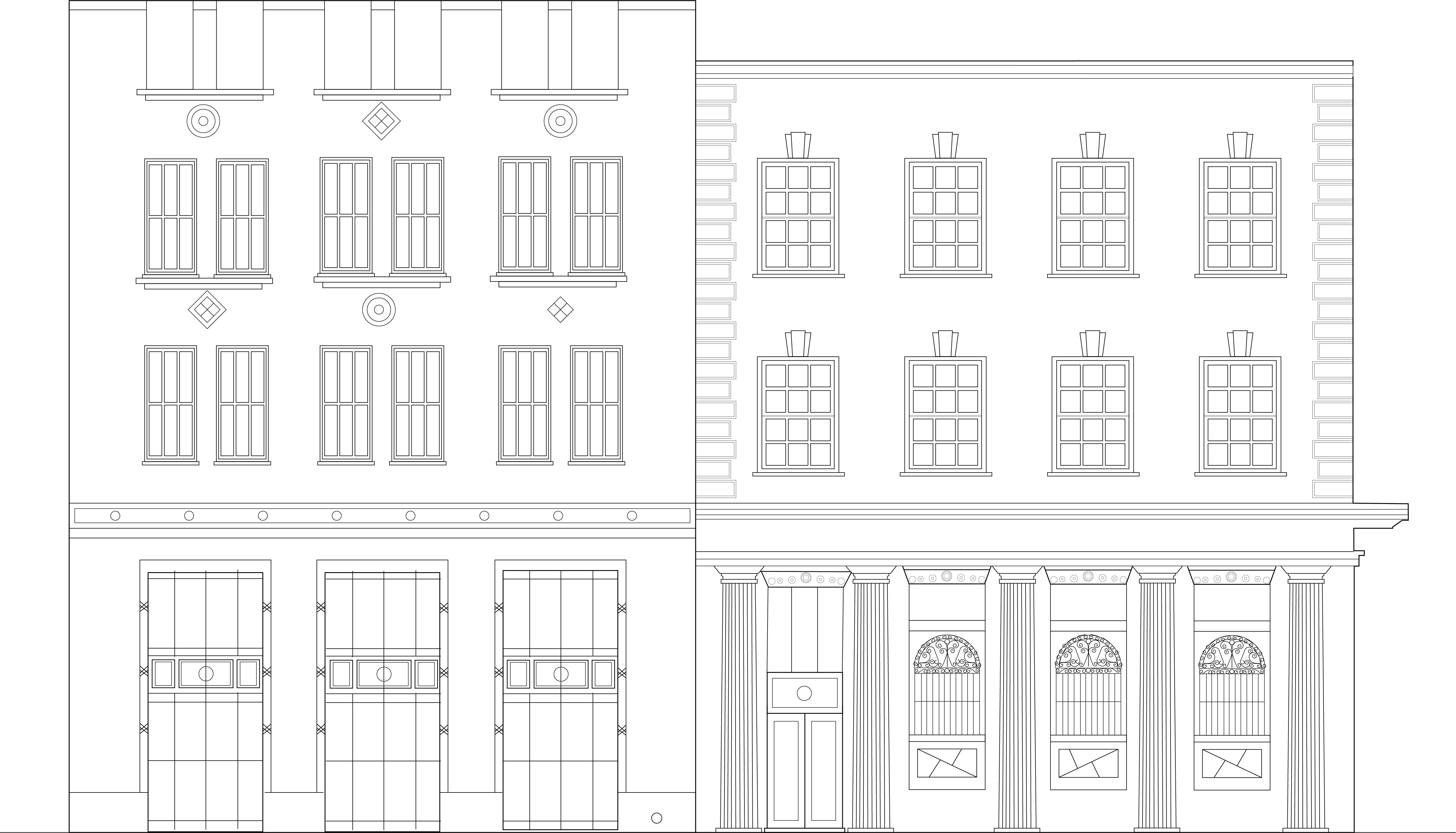 front facade drawign